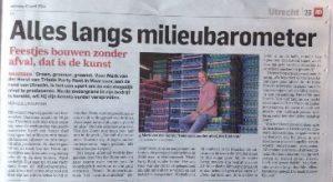 AD - Utrechts Nieuwsblad - groen verhuurbedrijf - Monique Linneman - Mark van der Horst - Triade Party Rent