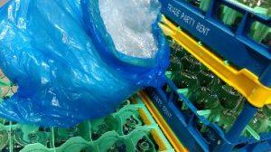 blauwe zak - folierecycling - Triade Party Rent - glaskorven - hulkenberg - mvo - leven zonder afval - foliezak - recycling