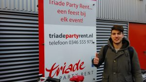 Baris Sahan, Triade Party Rent, Herenweg 64, Stagiaire